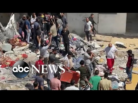 Families search for survivors, scramble for safety amid Israeli-Palestinian conflict   Nightline