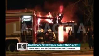 Madrugada del Lunes | Incendio en Av. Gato y Mancha