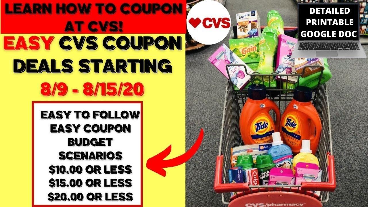 Easy New Couponer Cvs Deals 8 9 8 15 Cvs Coupon Matchups Easy Deal Breakdowns Youtube