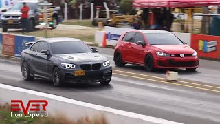 Lancer Evo vs Golf GTI vs BMW 240 vs Audi S3 vs TT | Drag Race 12 seg, Copa Verano 2018
