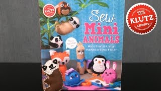 Sew Mini Animals from Klutz
