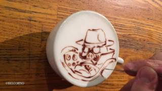 "I'm ""BELCORNO"" drawing LatteArt ( The Art on the coffee) in Japan. If you want to see more Latteart, please check my Web site. ↓ Twitter ..."