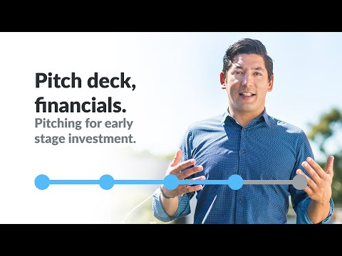The pitch deck, financials - Pitching for early stage investment with Dan Madhavan