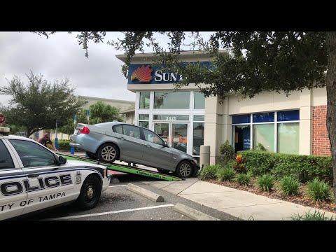 Car Into SunTrust Bank