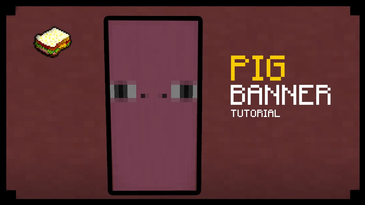 minecraft how to make a pig banner youtube
