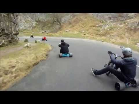 DTP drift trike Plymouth hit southwest drift trikes event at cheddar gorge 07/02/15 Gopro hero