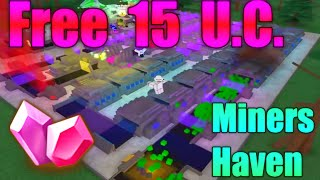 [ROBLOX: Miner's Haven] - Free 15 UC Code!
