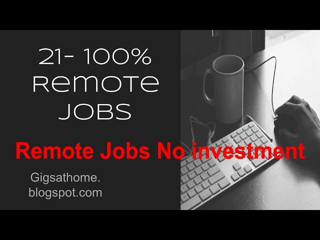 21-Remote Sales and Tech Gigs PT 2