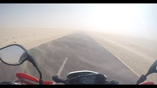 Riding a Motorcycle in the Sahara Desert - Part 2 ' Mauritania'