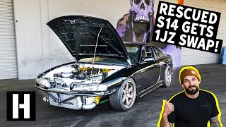 It Runs!! Rescued S14 Drives for the First Time in 10 Years. 1JZ GTX3076r!
