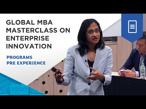 ESSEC Global MBA Masterclass on Enterprise Innovation