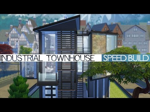 The Sims 4 - Speed Build - Industrial Townhouse