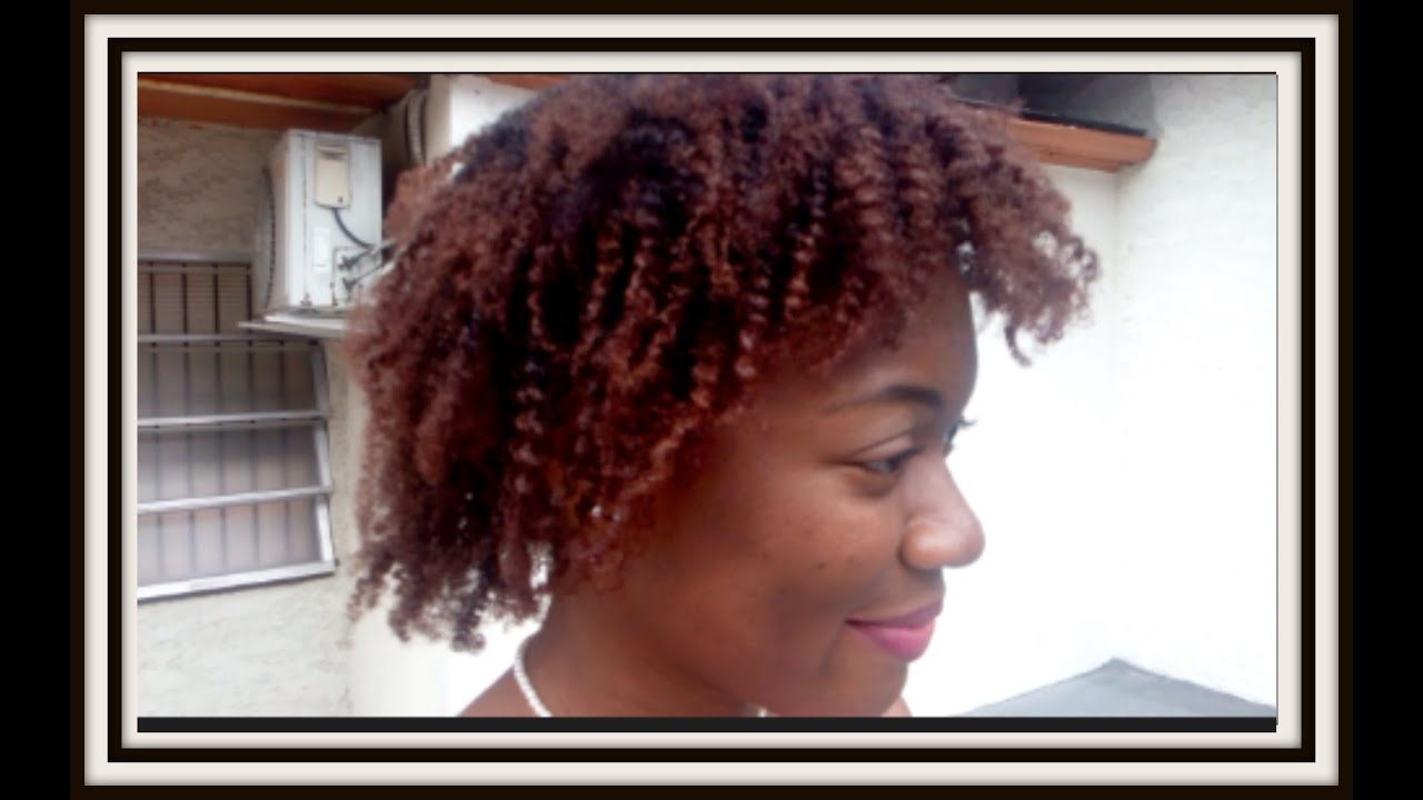 42 Creme Of Nature Hair Dye On 4c Hair Light Caramel Brown Youtube