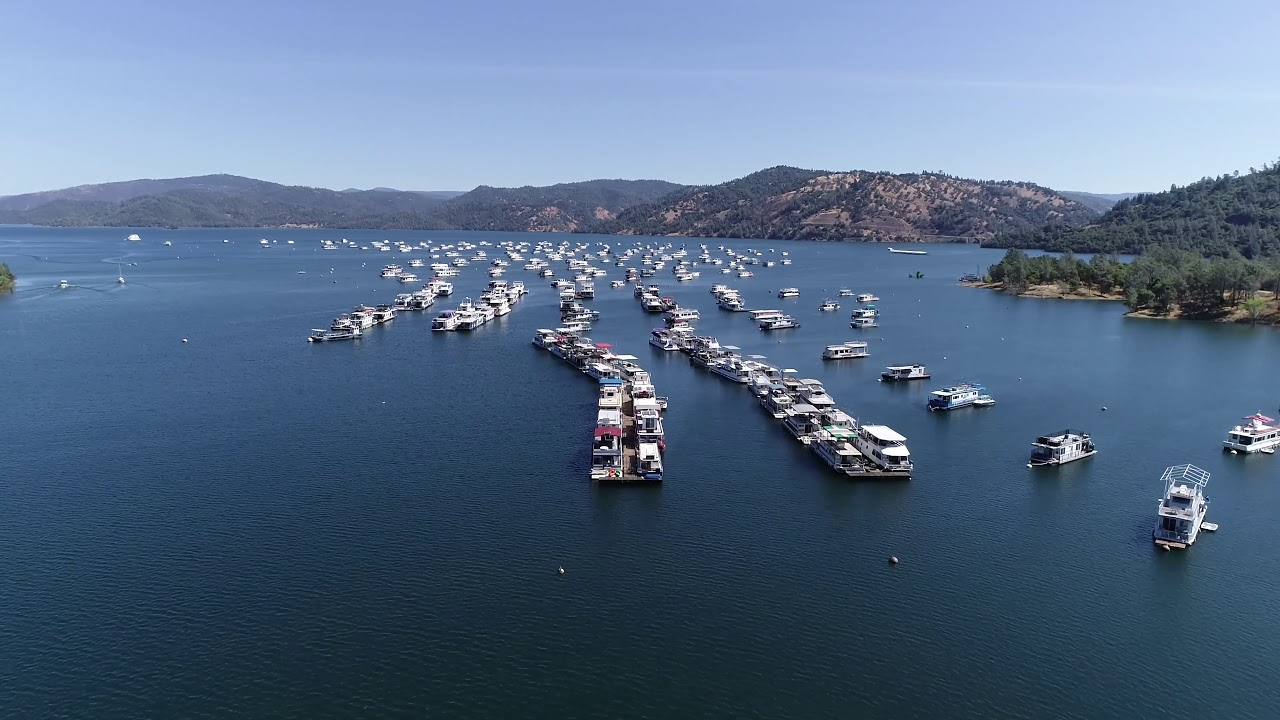 Bidwell Canyon Marina Houseboats Lake Oroville June 2019 Ca Hd 4k Drone Video Youtube