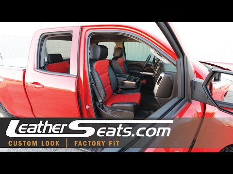 2016 2019 Chevy Silverado Custom Interior Replacement Leather Seats Leatherseats Com Youtube
