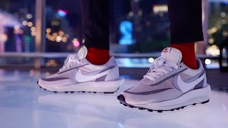 Negligencia Antorchas hipoteca  On Foot: Sacai x Nike LD Waffle Wolf Grey - YouTube