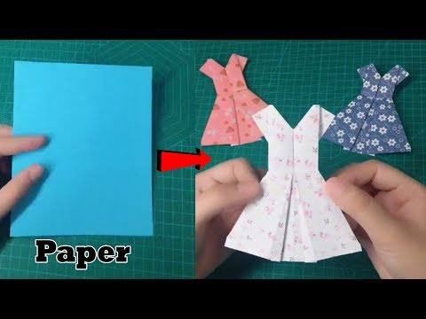 How to make beautiful dresses using paper - Paper dresses easy making