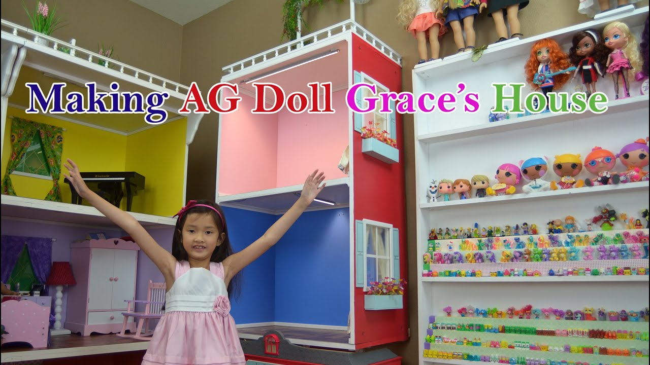 Making A Simple Doll House For American Girl Doll Grace Youtube