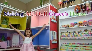 Making A Simple Doll House For American Girl Doll  Grace