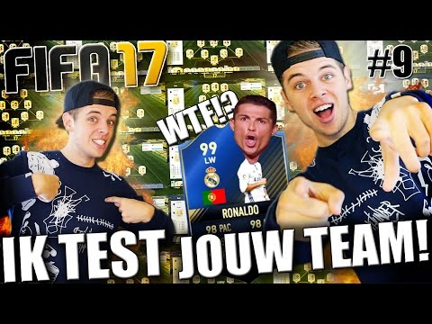 DIT IS NIET NORMAAL!! FIFA 17 IK TEST JOUW TEAM! #9