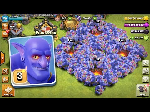Most Satisfide Max Bowler Attack On COC   New Server Gameplay