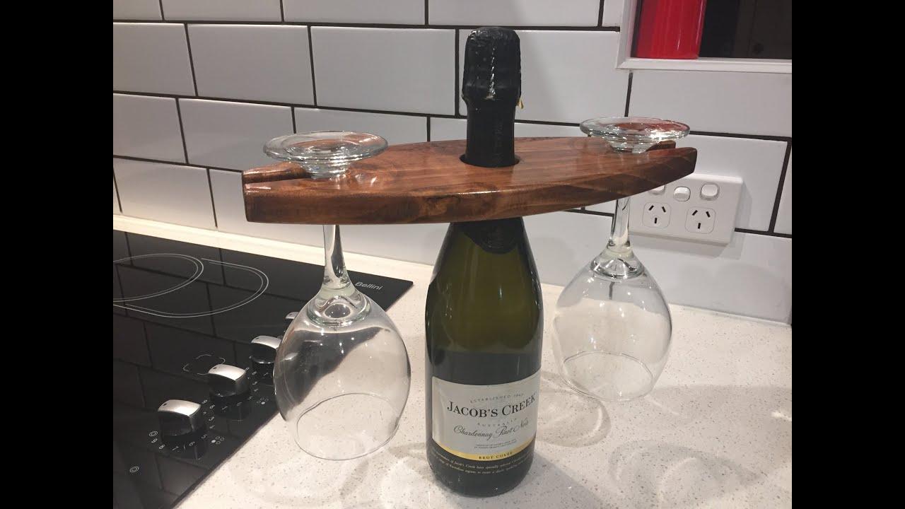 Making A Wine Glass Holder Youtube