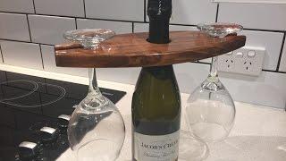 Making a wine glass holder