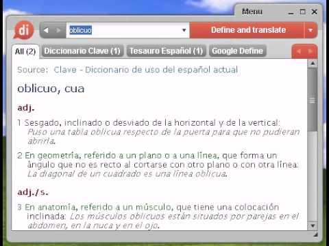 Definición de oblicuo - YouTube