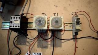 Автоматична і ручна моторна ланцюг управління з таймера