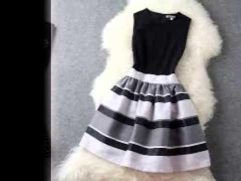 Vestidos de 15 blanco y negro cortos