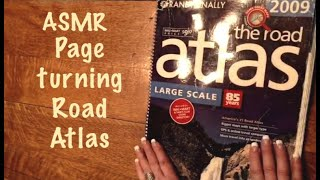 ASMR Page turning of Travel Atlas/Remake Request (No talking) Very crinkly. Very clear.