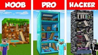 Minecraft NOOB vs PRO vs HACKER: BLOCK HOUSE BUILD CHALLENGE in Minecraft / Animation