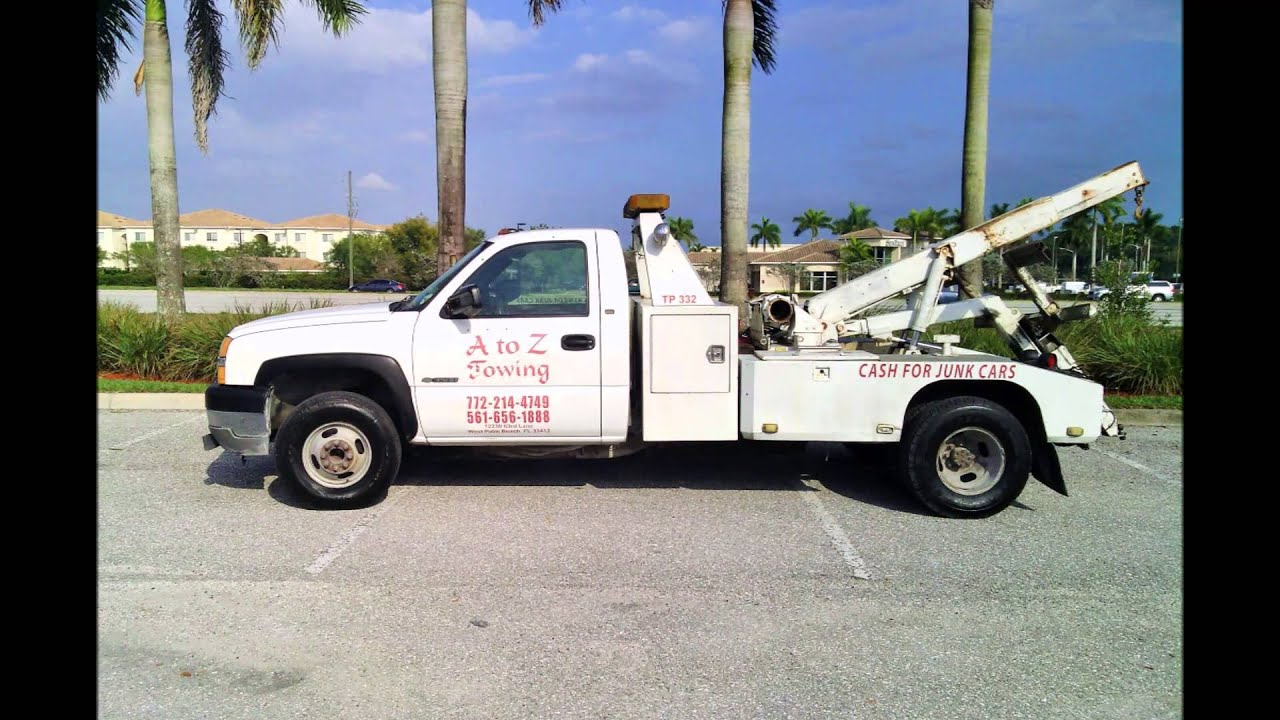 CASH FOR JUNK CARS A to Z Towing West Palm Beach 561-656-1888 - YouTube