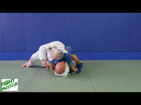 Chinlock Roll Over to Head-Arm Choke