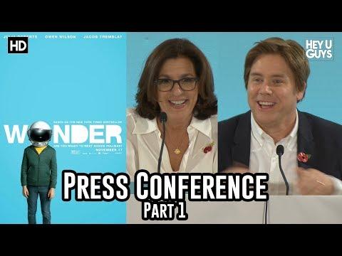 R.J. Palacio, Stephen Chbosky & David Hoberman | Wonder Press Conference Part 1