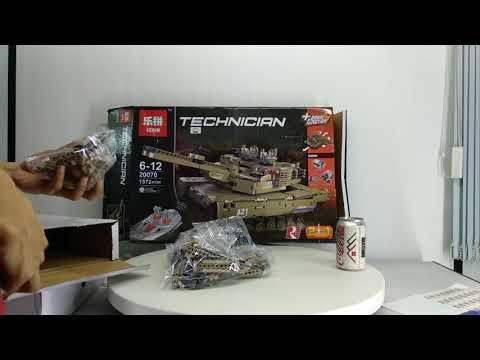 Mở hộp Lepin 20070 Lego Technic MOC The Remote Control Tank Set giá sốc rẻ nhất