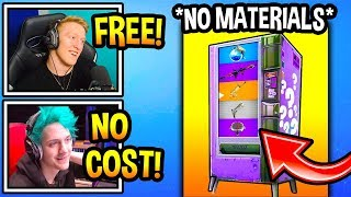 "Streamers React To *NEW* FREE ""Vending Machines"" In Fortnite! (No Material Cost) Fortnite Moments"