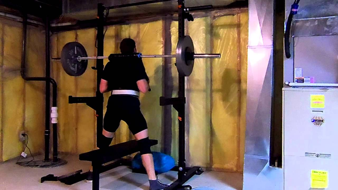 My homemade safety squat bar youtube for Homemade safety squat bar