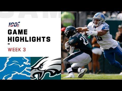 Lions vs. Eagles Week 3 Highlights | NFL 2019