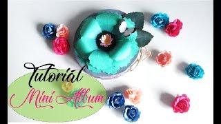 ✿ TUTORIAL MINI ALBUM FLOR,SCRAPBOOKING ALBUM FLOWER ✿