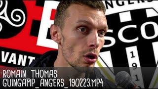 ROMAIN THOMAS RÉAGIT APRÈS GUINGAMP - ANGERS (1-0) / Ligue 1 - 23 février 2019