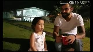 Virat kohli and dhoni daughter cute chat 2017