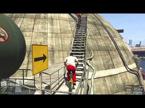 La Carrera Imposible!! Parkour con Bicis - GTA V PS4 ONLINE