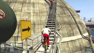 La Carrera Imposible!! Parkour con Bicis - GTA V PS4 ONLINE