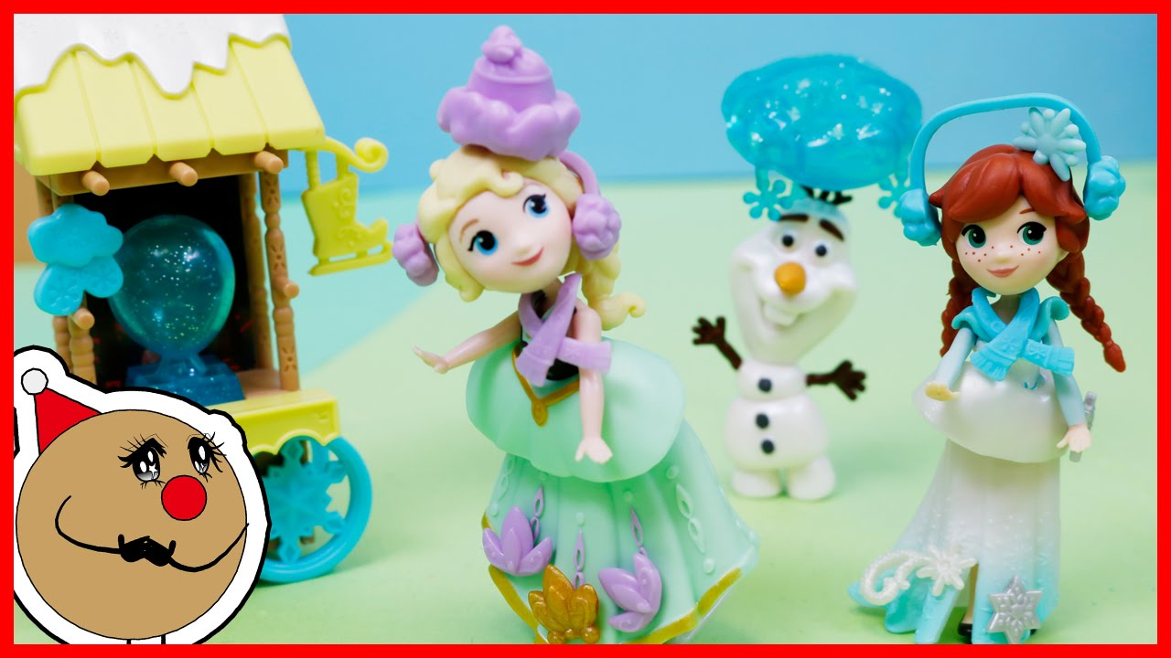 Disney Frozen Toy Animation Elsa's Ice Skating Little Kingdom Anna Olaf for Kids ToysReview