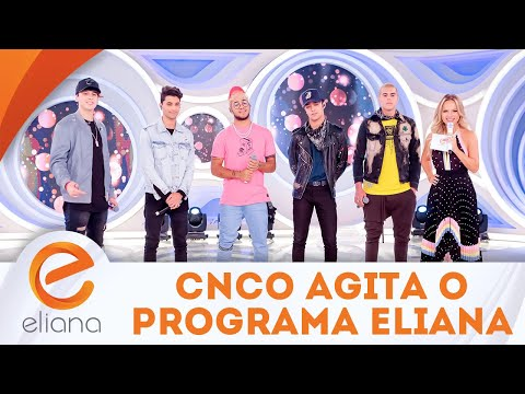 CNCO agita a plateia do programa | Programa Eliana (19/08/18)