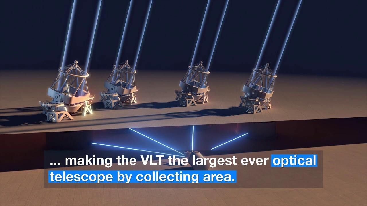 ESO's VLT Units 'Combined' to Form Amazing 16-Meter Telescope