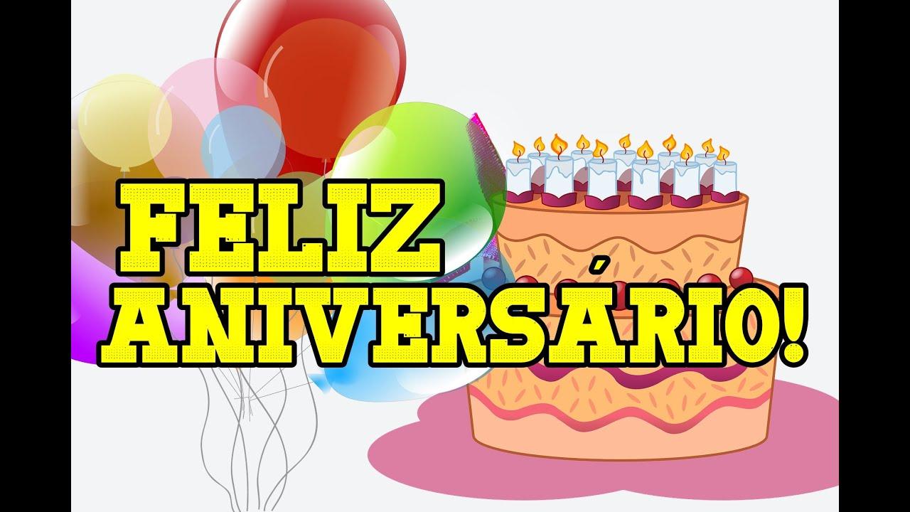 mensagem de aniversario para whats com bolo e baloes