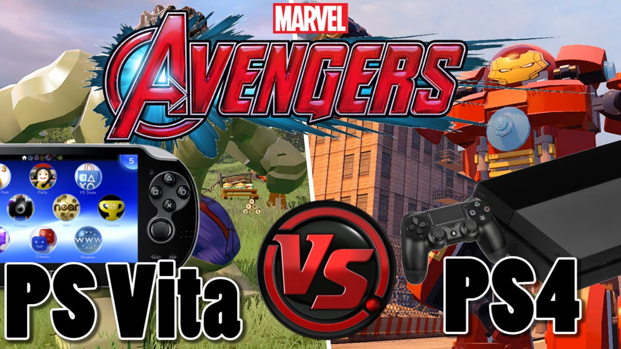 Ps Vita Lego Marvels Avengers Vs Ps4 Lego Marvels Avengers Youtube