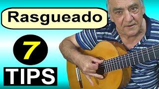 How to play rasgueado. 7 tips. Flamenco guitar lesson
